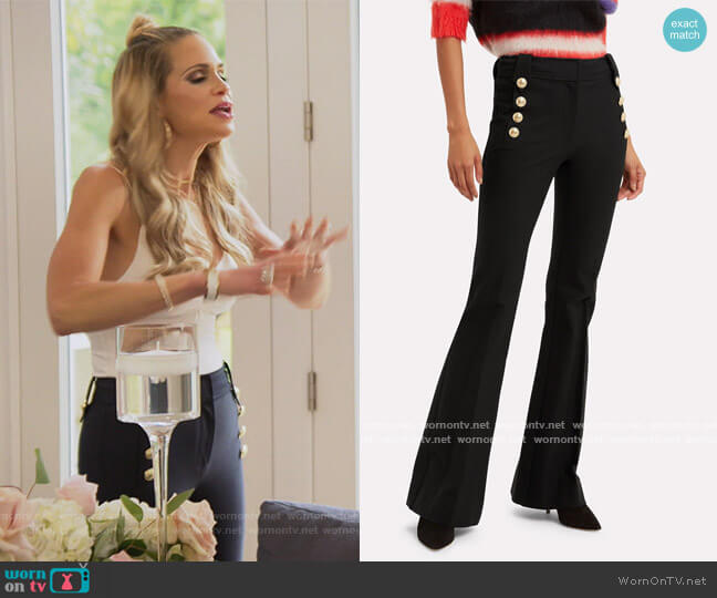Robertson Flared Sailor Trousers by Derek Lam 10 Crosby worn by Jackie Goldschneider  on The Real Housewives of New Jersey
