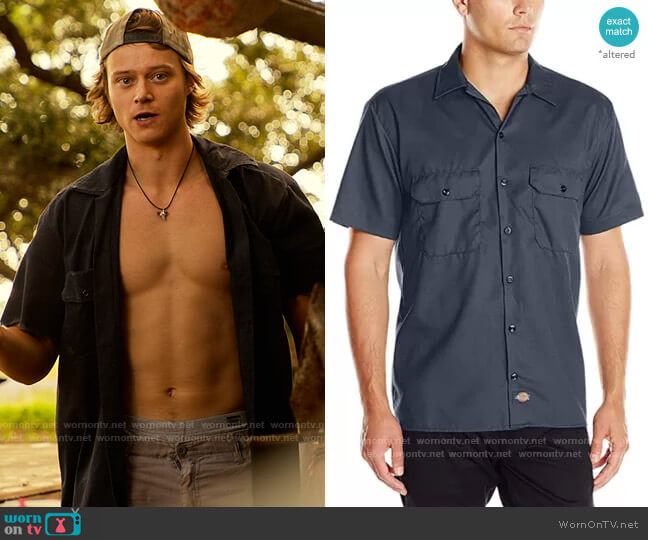 Dickies Short Sleeve Work Shirt worn by JJ (Rudy Pankow) on Outer Banks