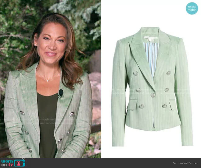 Diego Linen Blend Dickey Jacket by Veronica Beard worn by Ginger Zee  on Good Morning America