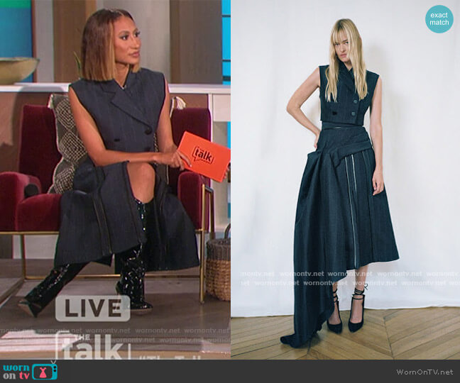 2021 Resort Collection by Ellery worn by Elaine Welteroth  on The Talk