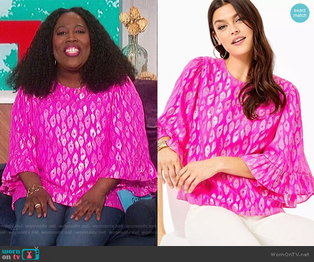 Francis Silk Top by Lilly Pulitzer worn by Sheryl Underwood  on The Talk