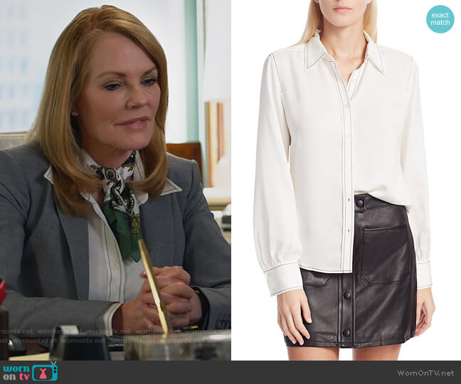 70's Shirt by Frame worn by Lisa Benner (Marg Helgenberger) on All Rise