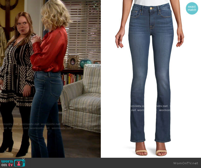 Frame Le Mini Boot-Cut Skinny Jeans worn by Mandy Baxter (Molly McCook) on Last Man Standing