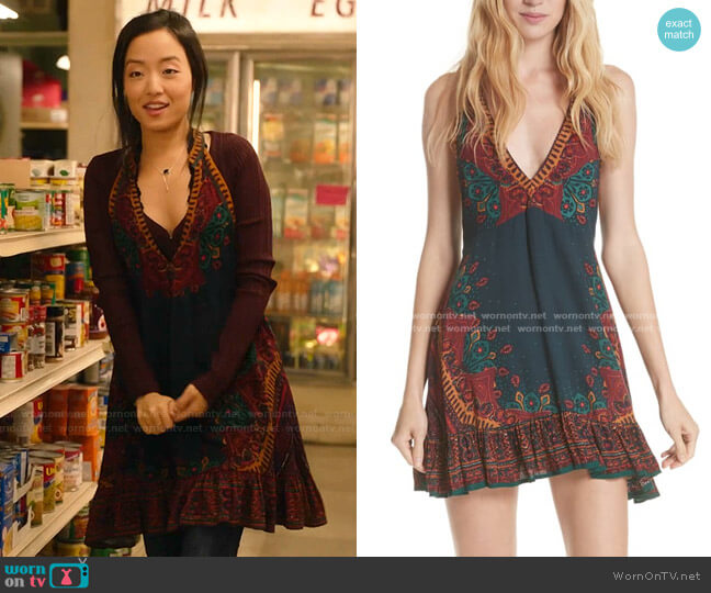 Steal the Sun Reversible Dress by Free People worn by Janet (Andrea Bang) on Kims Convenience