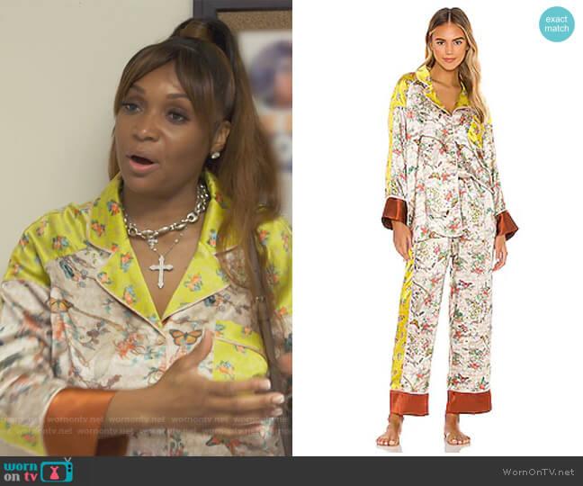 Nikki Pajama Set by Generation Love worn by Marlo Hampton on The Real Housewives of Atlanta