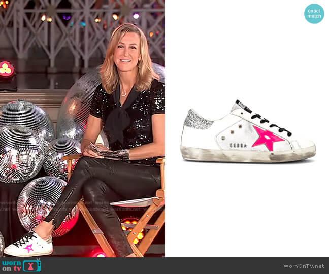 Superstar Sneaker by Golden Goose worn by Lara Spencer  on Good Morning America