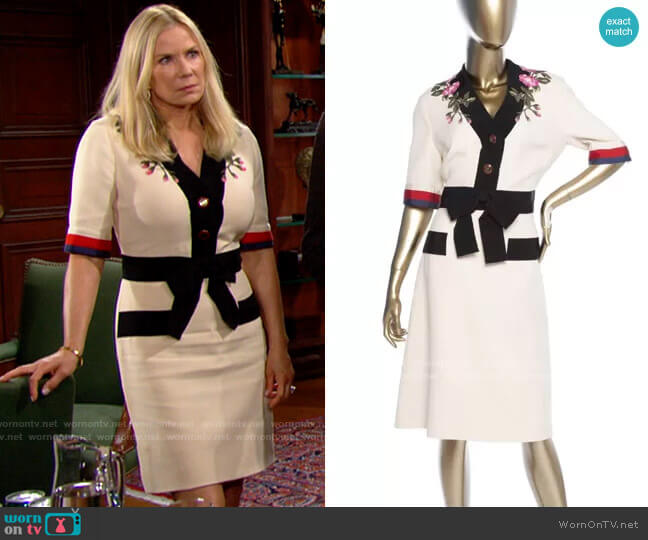 Gucci Cady Dress worn by Brooke Logan (Katherine Kelly Lang) on The Bold & the Beautiful
