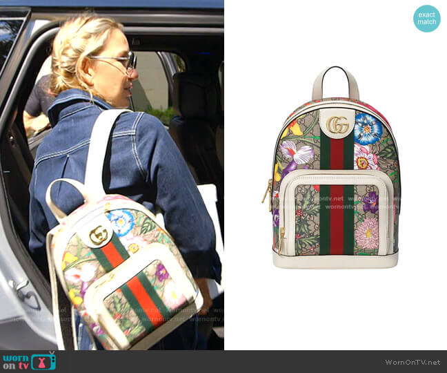 Ophidia GG Flora Small Backpack by Gucci worn by Kary Brittingham  on The Real Housewives of Dallas