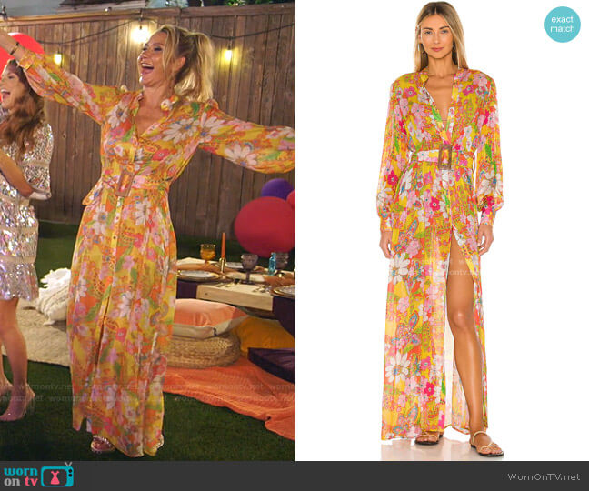 Misaki Maxi Dress by Hemant and Nandita worn by Kary Brittingham  on The Real Housewives of Dallas