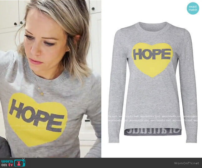 Hope Graphic Sweater by Victor Alfaro Collective worn by Dylan Dreyer  on Today