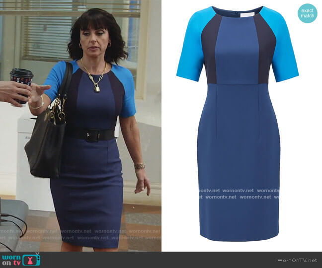 Shift Dress in Stretch Fabric by BOSS worn by Kathleen Gale (Constance Zimmer) on Good Trouble