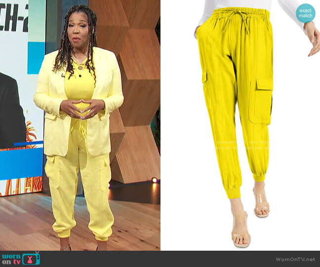 Utility Jogger Pants by INC International Concepts worn by Kym Whitley  on E! News
