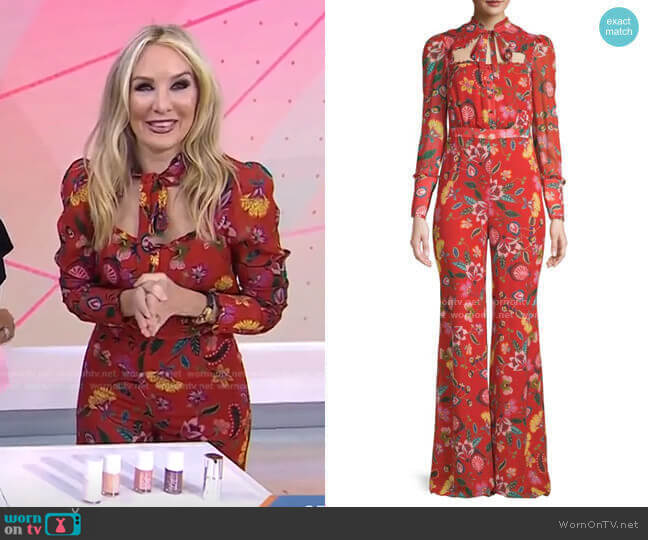 Imogene Floral Jumpsuit by Alexis worn by Chassie Post  on Today