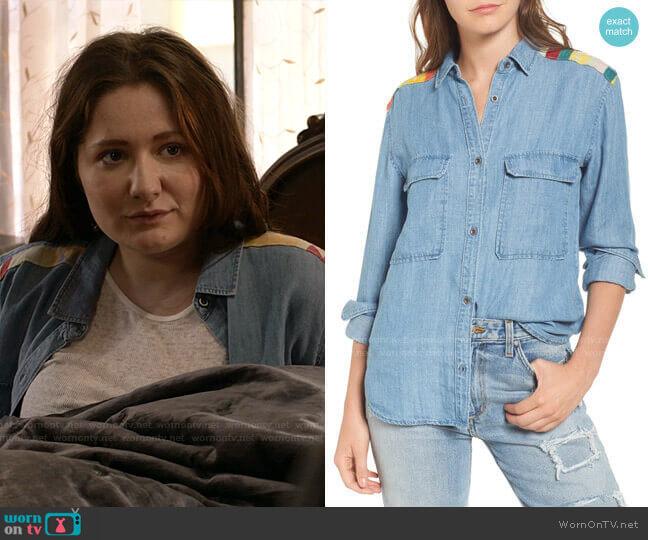 Jimi Chambray Shirt by Rails worn by Debbie Gallagher (Emma Kenney) on Shameless