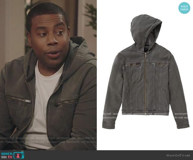 Hooded Jean Jacket by John Varvatos worn by Kenan Williams (Kenan Thompson) on Kenan