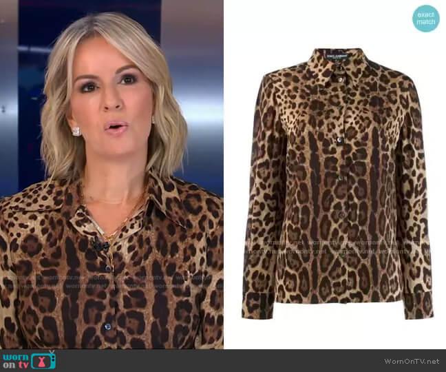 Leopard-Print Shirt by Dolce & Gabbana worn by Dr. Jennifer Ashton  on Good Morning America