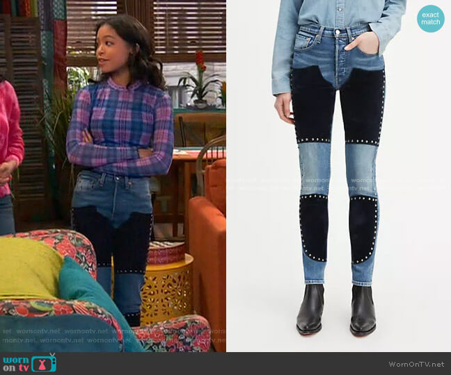 501 Night Rider Jeans by Levi's worn by Nia Baxter (Navia Robinson) on Ravens Home