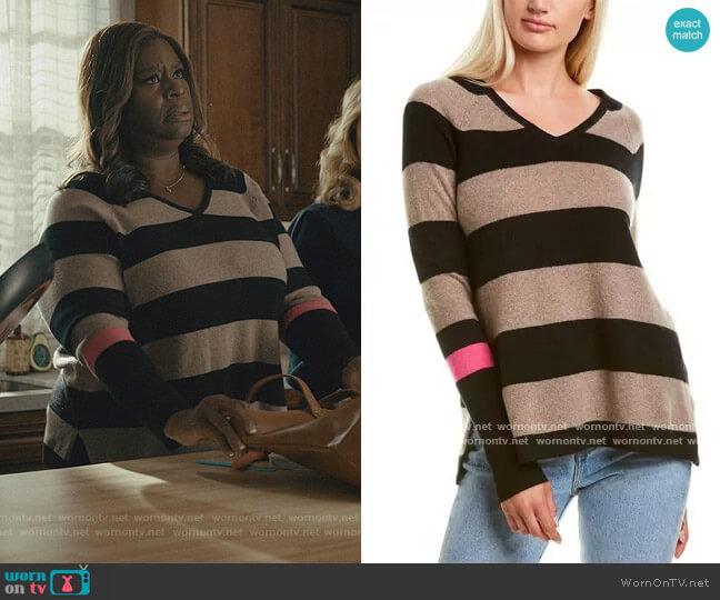Striped Sweater by Lisa Todd worn by Ruby Hill (Retta) on Good Girls