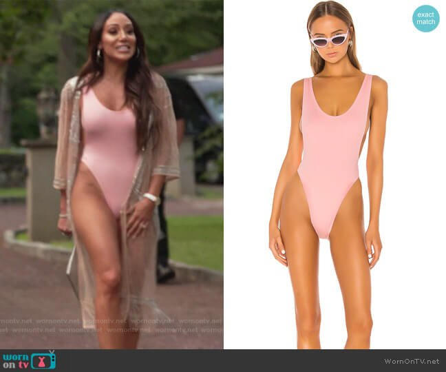 x REVOLVE Marissa One Piece by Norma Kamali worn by Melissa Gorga  on The Real Housewives of New Jersey