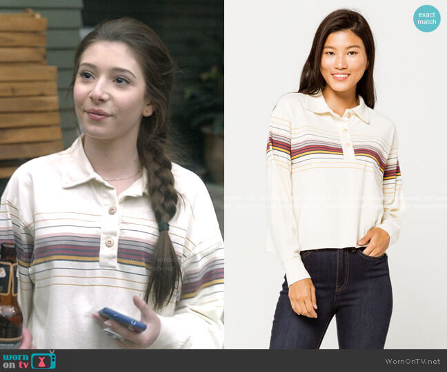 Stacia Polo Shirt by Other Follow worn by Natalie (Makenzie Moss) on The Unicorn