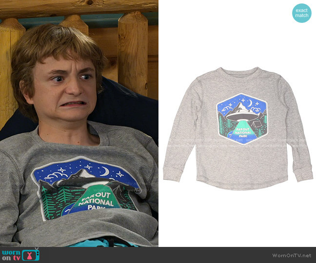 Thermal Top by Old Navy worn by Finn Sawyer (Will Buie Jr) on Bunkd