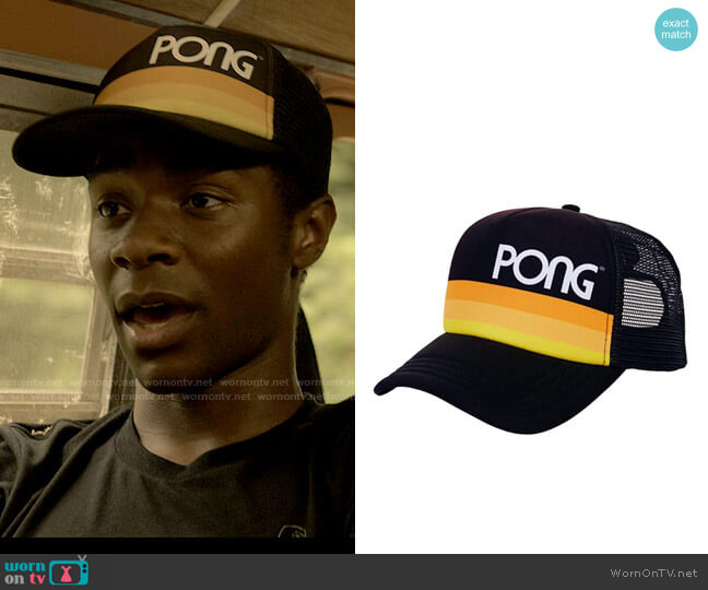 PONG Atari Vintage Style Retro Snapback Hat worn by Pope (Jonathan Daviss) on Outer Banks