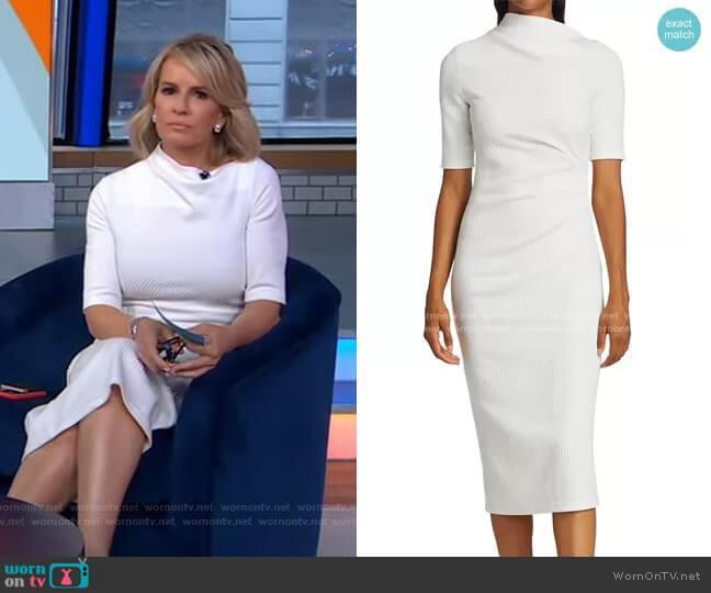 Parkfield Wrap Sheath Dress by Acler worn by Dr. Jennifer Ashton  on Good Morning America