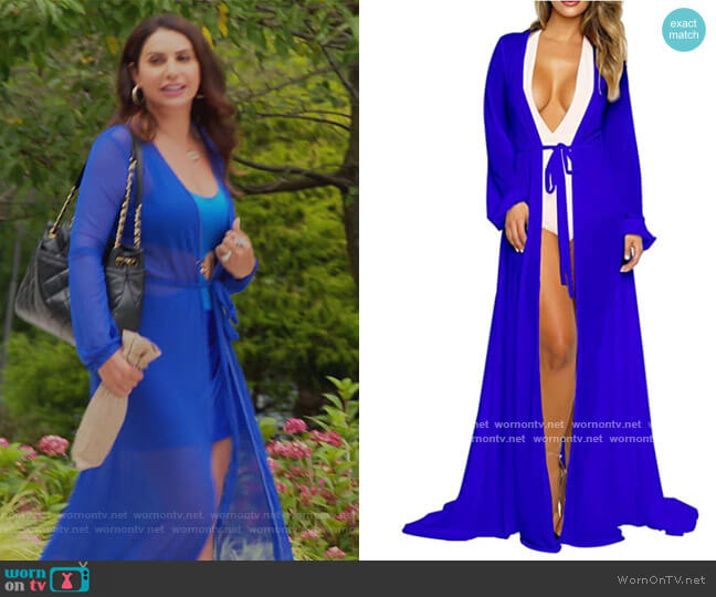 Flowy Maxi Coverup by Pink Queen worn by Jennifer Aydin  on The Real Housewives of New Jersey