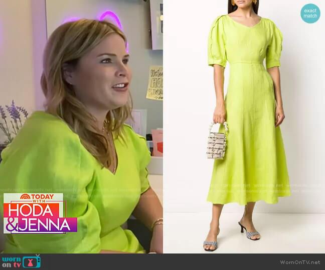 Puff Sleeve Tea Dress by Mara Hoffman worn by Jenna Bush Hager  on Today