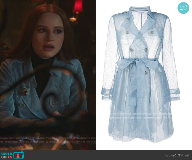 Point Desprit Sheer Trench by RED Valentino worn by Cheryl Blossom (Madelaine Petsch) on Riverdale