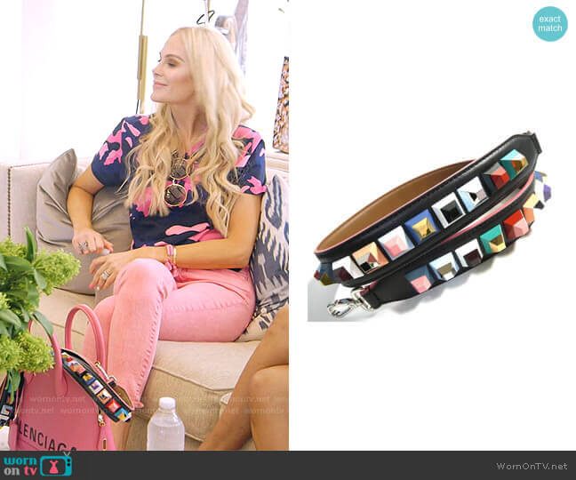 Rainbow Stud Strap by Fendi worn by Kameron Westcott  on The Real Housewives of Dallas