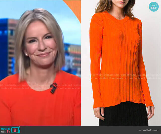 Ribbed Knit Jumper by Courreges worn by Dr. Jennifer Ashton  on Good Morning America
