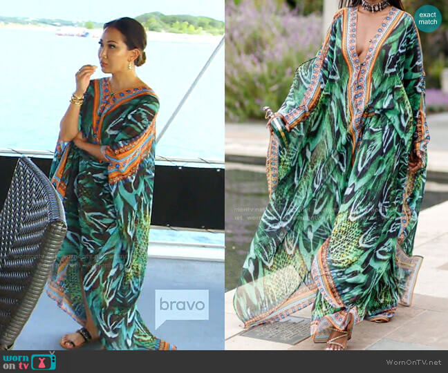 Brazil Goddess Caftan by Sai Sankoh worn by Tiffany Moon  on The Real Housewives of Dallas