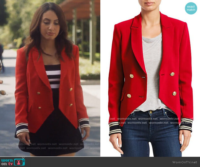 Double Breasted Blazer by Scripted worn by Ana Torres (Francia Raisa) on Grown-ish