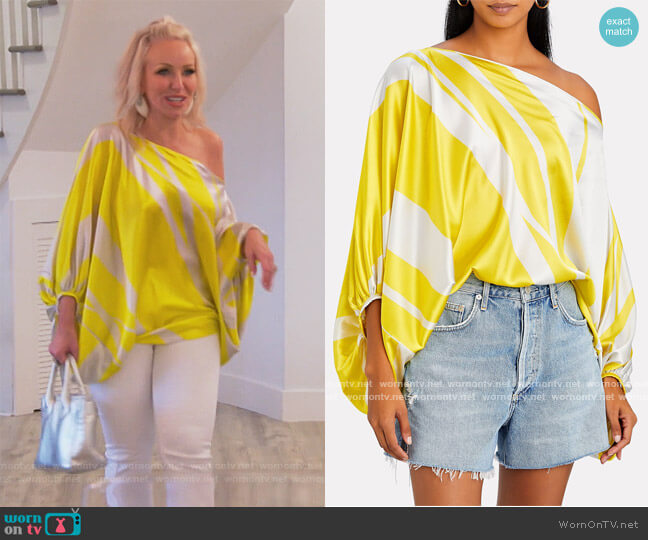 Bellagio Off-The-Shoulder Blouse by Silvia Tcherassi worn by Margaret Josephs  on The Real Housewives of New Jersey