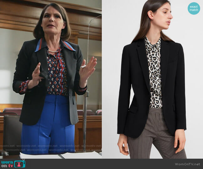 Staple Blazer by Theory worn by Maggie Palmer (Suzanne Cryer) on All Rise