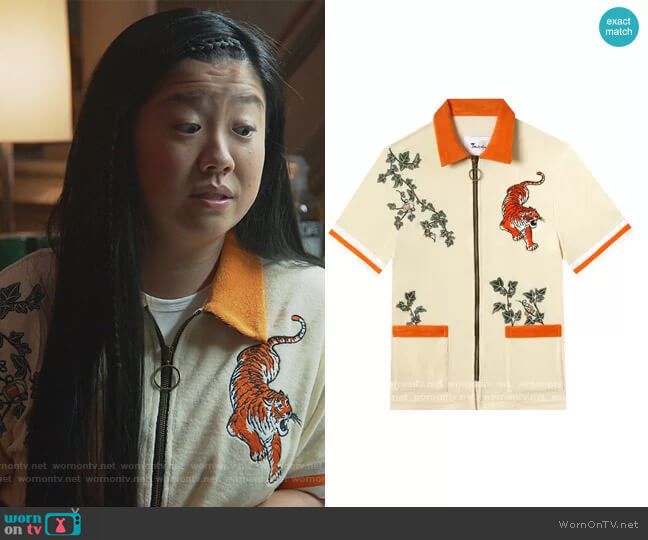Crouching Tiger Hidden Beverage by Tombolo worn by Alice Kwan (Sherry Cola) on Good Trouble