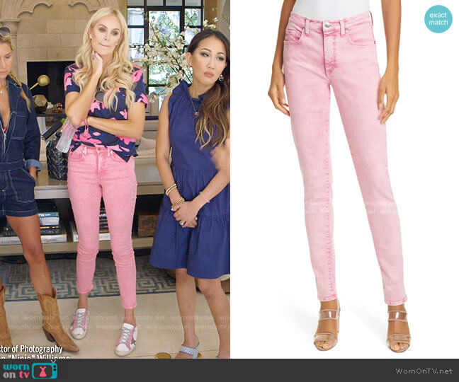 Kate High Waist Ankle Skinny Jeans by Veronica Beard worn by Kameron Westcott  on The Real Housewives of Dallas