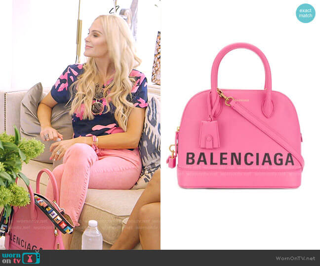 Ville Top Handle Bag by Balenciaga worn by Kameron Westcott  on The Real Housewives of Dallas