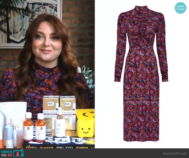 Zoe Dress by Tanya Taylor worn by Samantha Barry on Today