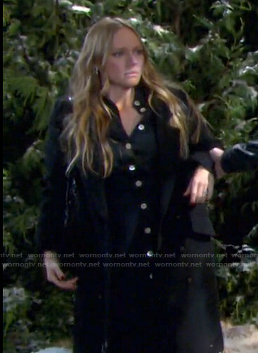 Abigail's black shirtdress on Days of our Lives
