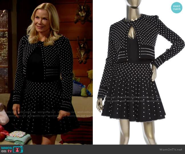 Alaia Skirt Set worn by Brooke Logan (Katherine Kelly Lang) on The Bold & the Beautiful