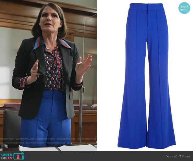 Dylan High-Waist Wide-Leg Pants by Alice + Olivia worn by Maggie Palmer (Suzanne Cryer) on All Rise