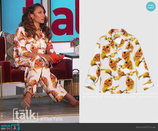 Chateau Silk Blouse by Aliette worn by Elaine Welteroth  on The Talk