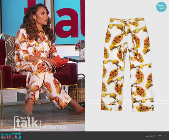 Chateau Silk Pant by Aliette worn by Elaine Welteroth  on The Talk