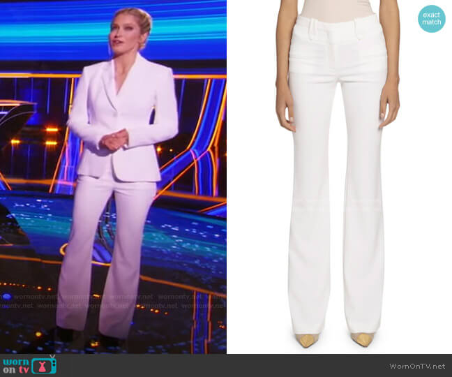 High-Rise Flare Pants by Altuzarra worn by Sara Haines  on The Chase