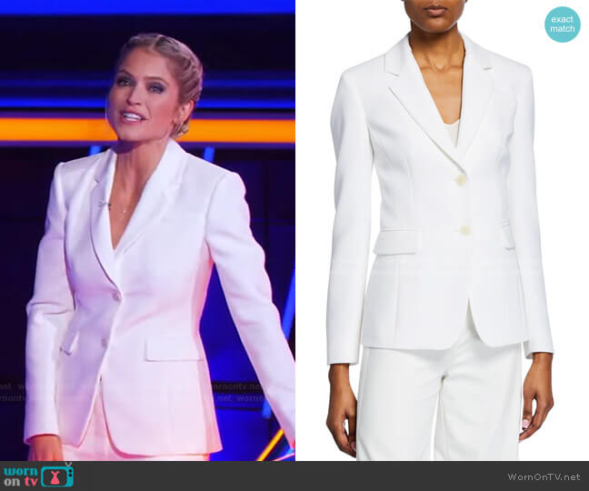 Two-Button Crepe Blazer by Altuzarra worn by Sara Haines  on The Chase