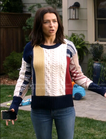 Amelia's cable knit sweater on Greys Anatomy