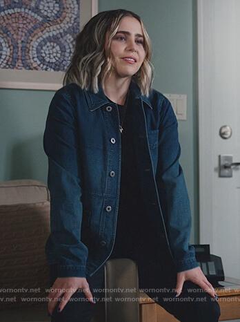 Annie's oversized denim jacket on Good Girls