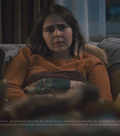Annie's orange sweatshirt on Good Girls